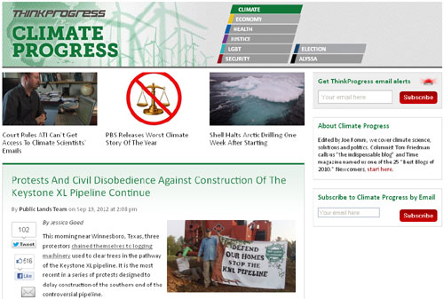 think progress website image